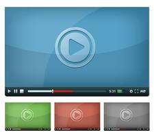 Lettore video per Web e Tablet PC vettore