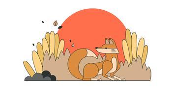 vettore di volpe