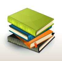 Album di pila di libri e di foto