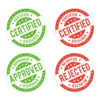 Certificato di sigillo vettore