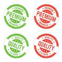 Timbro sigillo di qualità premium vettore