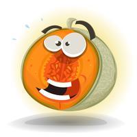 cartone animato divertente personaggio di melone vettore