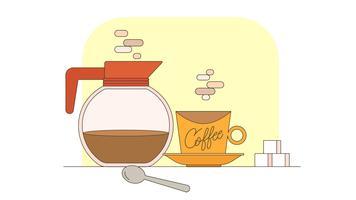 Vettore di caffè del mattino