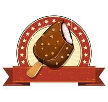 Gelato al cioccolato sulla bandiera di Grunge vettore