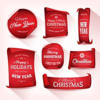 Set di pergamena natalizia