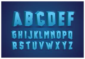 Alfabeti ghiacciati con sfondo blu vettore
