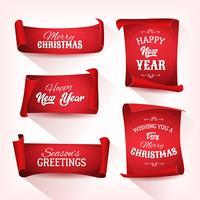 Collezione di pergamena natalizia