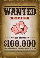 Poster Western Wanted vintage vettore