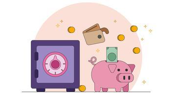 Risparmio di denaro vettoriale