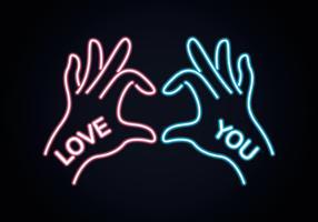 Segno della mano di amore vettore