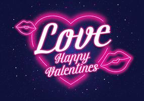 vettore di neon valentine vol 2