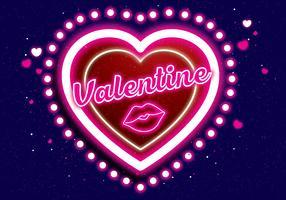 vettore di neon valentine vol 3