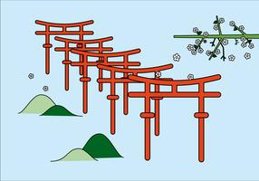 Fuji Inari Vector gratuito
