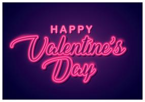 Buon San Valentino segno al neon vettore