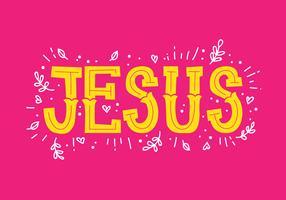 Gesù mano lettering vettore