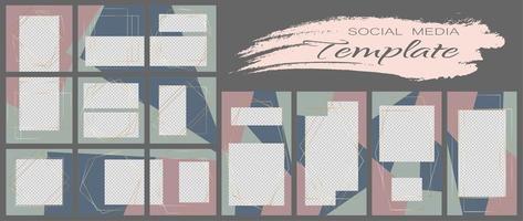 modello di banner di social media. mockup modificabile per storie, blog personale, layout per la promozione. vettore