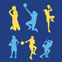 Pacchetto di vettore del giocatore di pallacanestro femminile