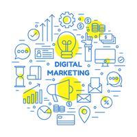 elementi di marketing aziendale vettore
