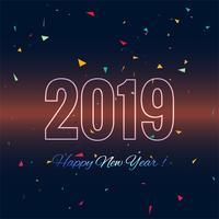 Fondo variopinto di celebrazione della carta del buon anno 2019