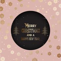 Sfondo di Natale con testo decorativo e fiocchi di neve 2210