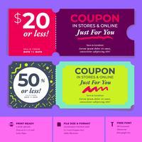 Modelli di buoni sconto design coupon