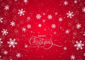 Sfondo di Natale con fiocchi di neve vettore