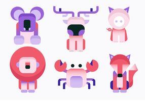 Illustrazione geometrica di vettore di forma semplice animale