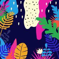 La giungla tropicale lascia la priorità bassa vettore
