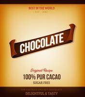 Sfondo di prodotti al cioccolato