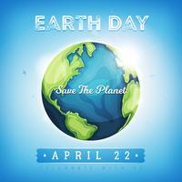 Happy Earth Day sfondo vettore
