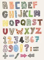 Doodle fantasia alfabeto abc vettore