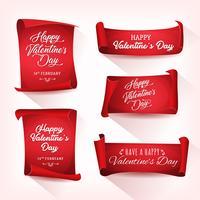Felice banner di San Valentino vettore