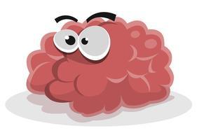 personaggio divertente del cervello vettore