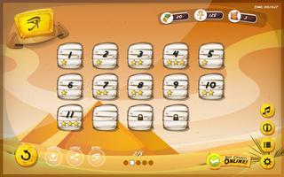 Disegno della GUI della piramide egiziana per tablet vettore