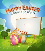 Tempo di primavera e vacanze di Pasqua vettore