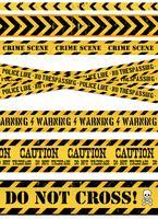 Linea di polizia, scena del crimine e nastri d'avvertimento vettore