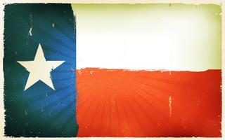 Priorità bassa americana del manifesto della bandierina del Texas dell'annata