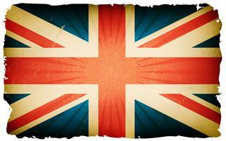 Priorità bassa del manifesto della bandierina inglese dell'annata