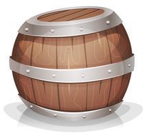 cartone animato-divertente-legno-barile vettore
