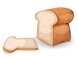 Pane o Brioche con fetta vettore