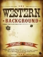Poster grunge occidentale vettore