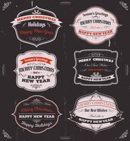 Banner, distintivi e cornici di auguri di stagione vettore