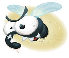 mosca domestica divertente comica vettore