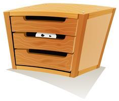 Occhi nel cassetto di legno