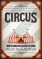 Poster del circo di design vintage vettore