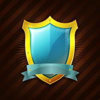 Icona scudo di sicurezza d'oro