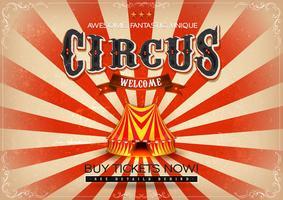 Poster vintage del circo vettore