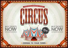 poster vintage vecchio circo