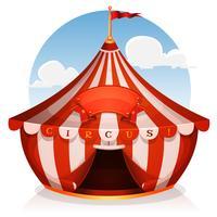 grande circo con banner vettore