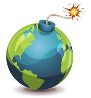 Bomba di avvertimento del pianeta terra vettore
